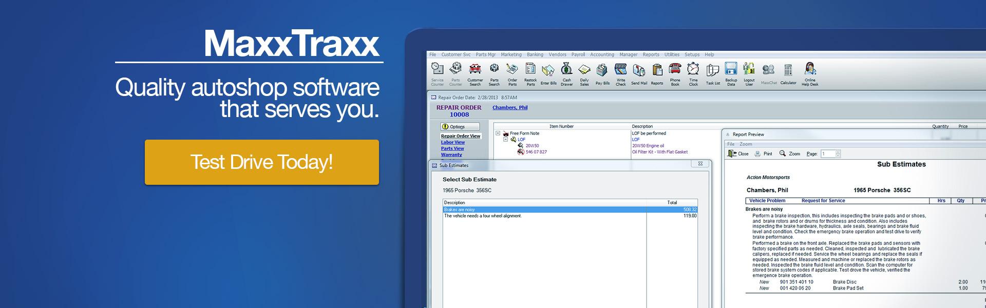 maxxtraxx is a best auto repair software choice for 2018 home
